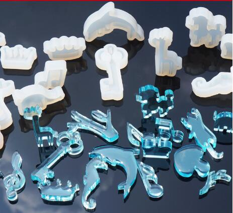 HOT SALE 17 style for choose DIY Silicone Resin Casting Necklace Pendant Mold Jewelry Mo ...