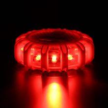 1 шт. 12 * индикатор аварийного Детская безопасность Flare красный дорога вспышки магнит мигает Предупреждение Ночные светильники придорожных диск Маяк для автомобиля грузовик Лодка