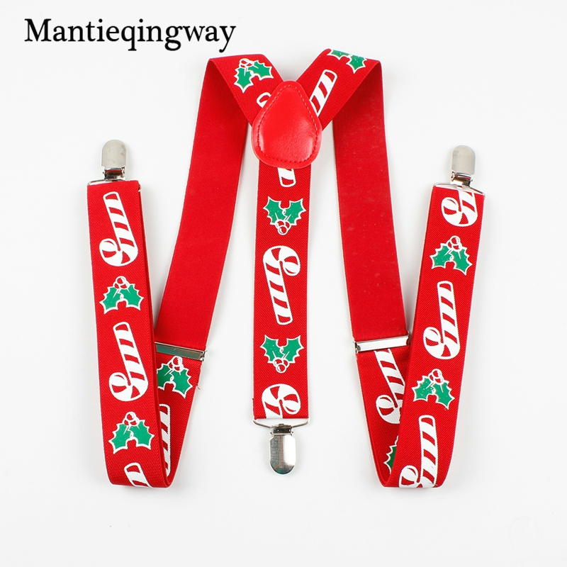 Mantieqingway Mens Christmas Belt Christmas Tree Suspender Y Back Shirt Suspenders For Men Red Strap Stanta Santa Claus Gifts