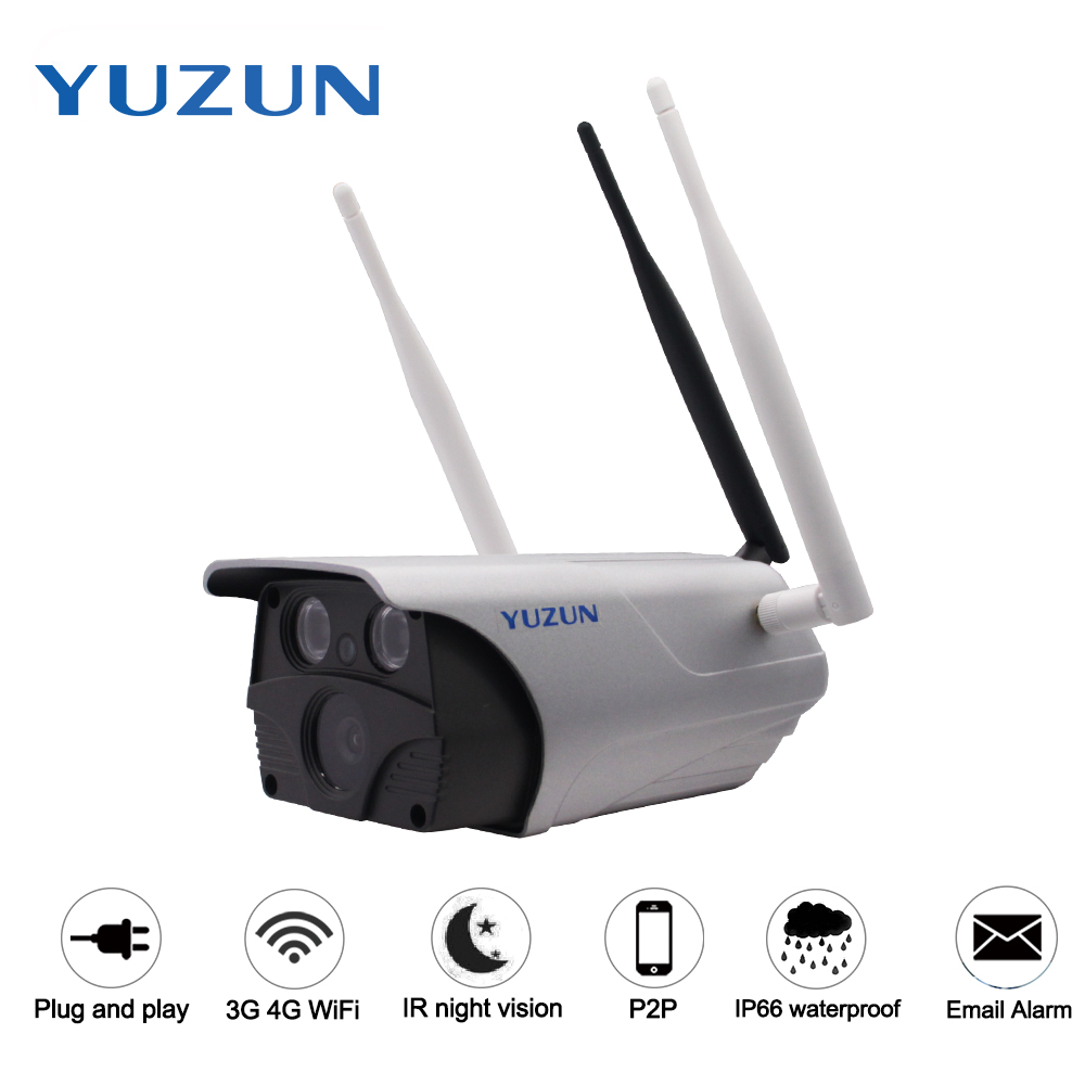 960P 3g 4g gsm lte sim card slot ip security camera IP67 waterproof outdoor bullet font
