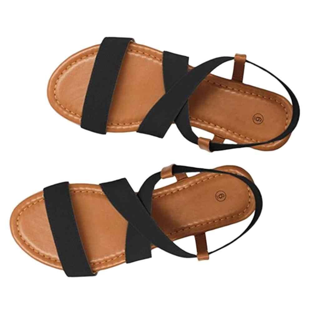 Le donne A Basso Tacco Anti Slittamento Scarpe Da Spiaggia Cinghia Croce Sandali Peep-toe Sandali delle signore Open Toe sandalo piatto Casual scarpe femminili