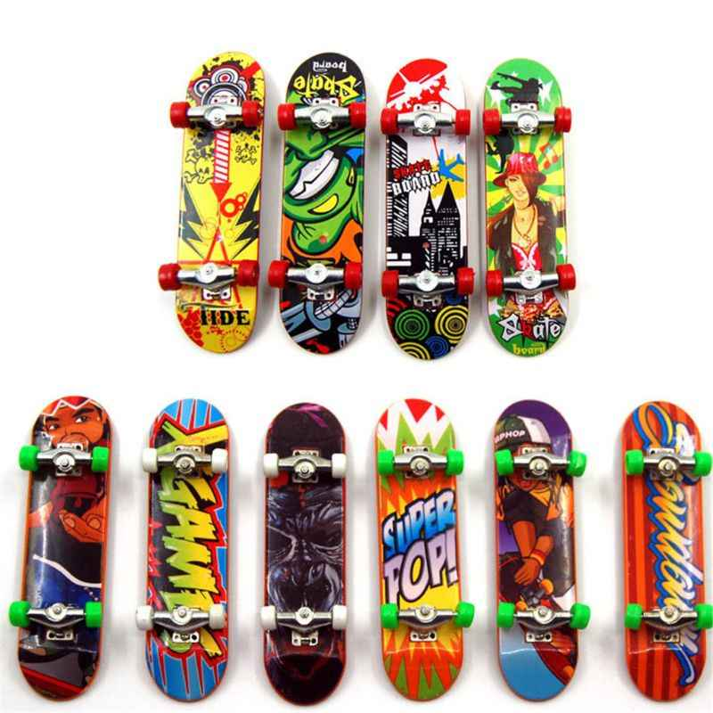 2PCS Finger Board Tech Truck Mini Skateboards Alloy Stent Party Favors Gift
