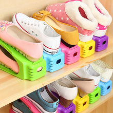 Durable Plastic Shoe Racks Modern Double Cleaning Storage Shoes Rack Living Room Convenient Shoebox Shoes Organizer Stand Shelf(China)