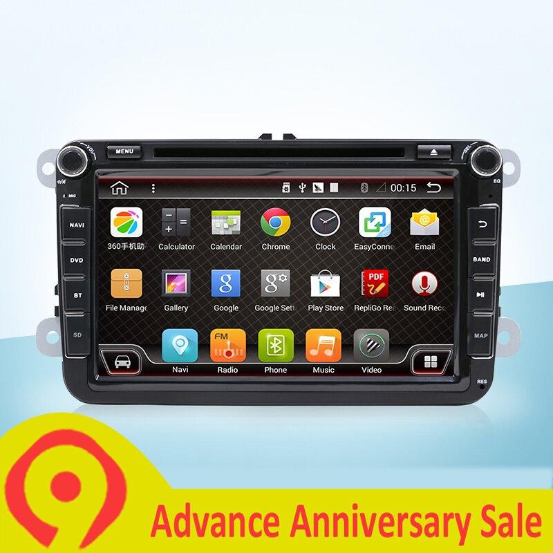 1024*600 Android 7.1 DAB + Wifi voiture DVD GPS Navi pour VW SKODA OCTAVIA Fabia GOLF 6 polo Bora JETTA MK4 B6 PASSAT Tiguan