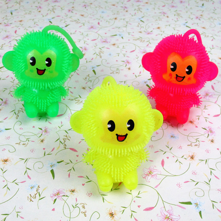 2020 New Light Up Toys Led Toy The Trumpet Light-emitting Toys Monkey King Children's Day Gift Flash Rubber Ball 2020