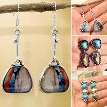 цена на Fashion Vintage Earrings Creative Ethnic Alloy Stone Hook Drop Dangle Earrings Jewelry Harajuke Geometric Earrings New Style