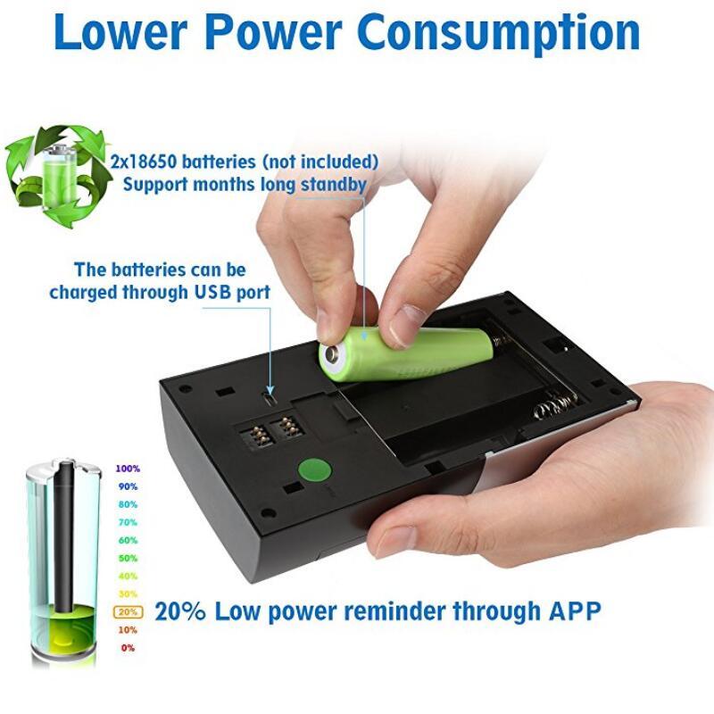 Sonnette vidéo sans fil 1080 P WiFi porte cloche bidirectionnelle parler alarme maison sécurité HD 2.4G téléphone à distance PIR mouvement - 5