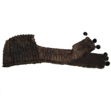 Real Mink Fur Hat Scarf Luxury Women Winter Handmade Knitted Natural & Female Brown/ Black Warm Hats Scarves