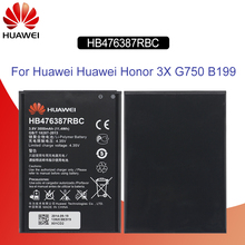 Original Battery For HUAWEI HB476387RBC 3000mAh Huawei Honor 3X G750 G750-U10 G750-T01 G7-T00 B199 Replacement Phone