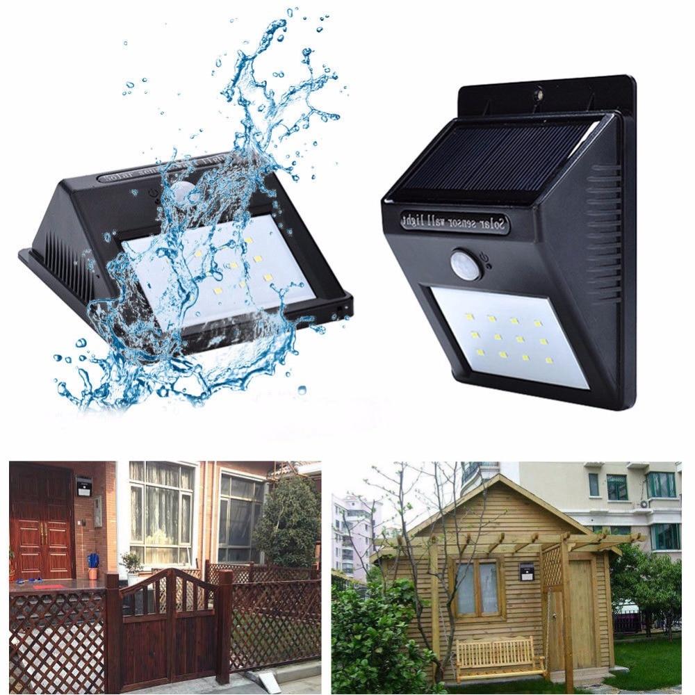 2 Pack 12 LED Solar Light Motion Sensor Waterproof Wireless Solar Power Lamp Garden Wall Yard Deck Bright Security Night Lights