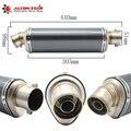 51mm modificado tubo de escape da motocicleta silenciador cbr cb400 cb600 z750 z800 tmax530 mt07 gy6 silenciador silenciador do escape de moto moto