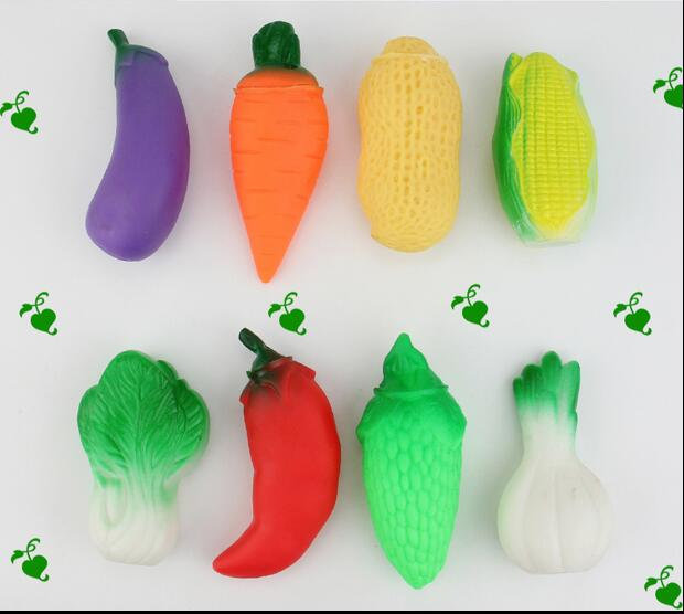 Baby bathe swimming vegetables toys Squeeze-sounding Dabbling Toy 8pcs/ a lot