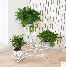Multilayer flower iron European mobile shelf assembly Angle of sitting room to the balcony contracted rural ground bonsai