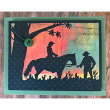 Silhouette Horse Riding Metal Cutting Dies for DIY Scrapbooking Embossing Album Paper Cards Making Crafts New 2019 Supplies