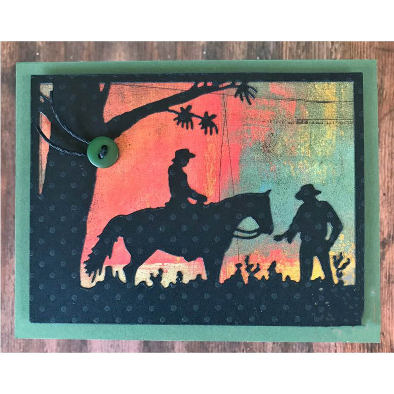 Silhouette <font><b>Horse</b></font> Riding <font><b>Metal</b></font> Cutting Dies for DIY Scrapbooking Embossing Album Paper Cards Making Crafts New 2019 Supplies Dies image