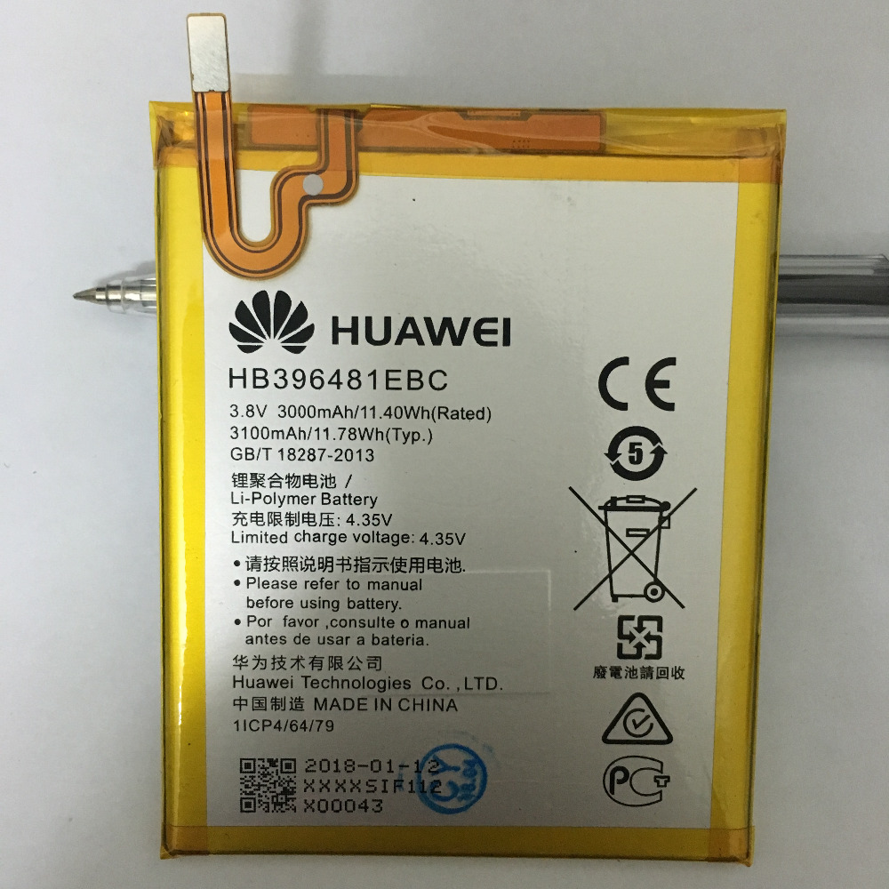 For Huawei G8 Battery HB396481EBC 100% High Quality 3100mAh Replacement huawei Smart Phone