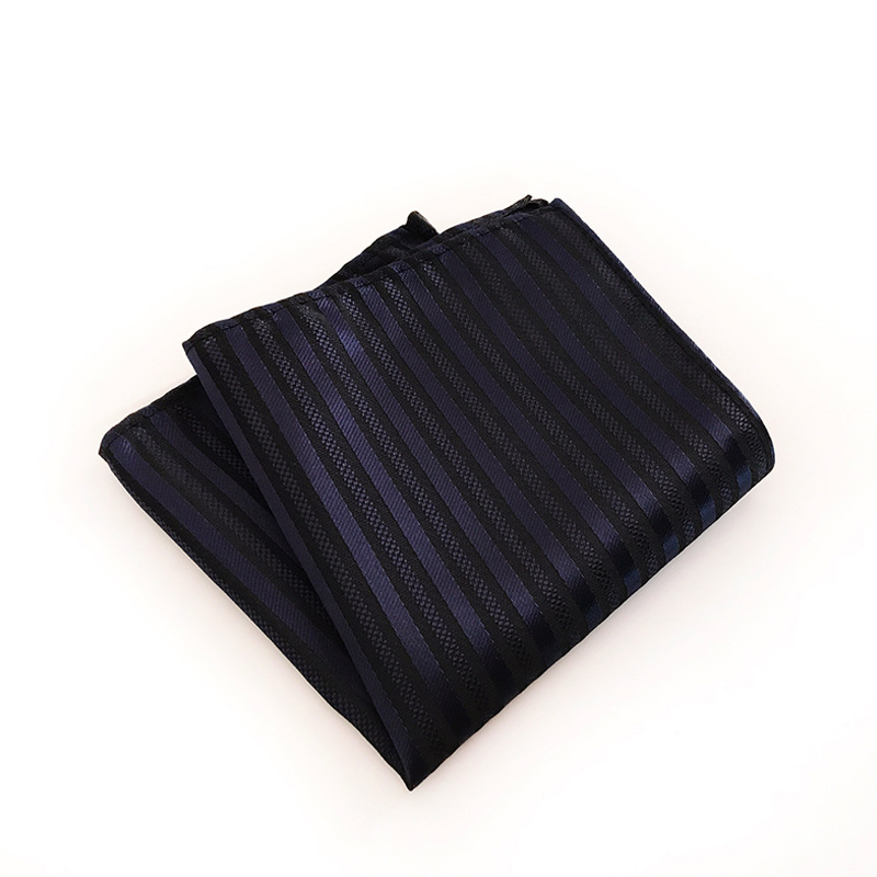 Striped Plaid Pocket Square Pocket Towel Wedding Hankies Chest Towel Business Handkerchief For Mens Shirt