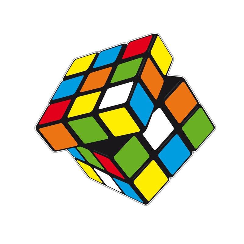 Car Stickers Yjzt 14.6cm*13.9cm High Quality Rubiks Cube Pvc Motorcycle Car Sticker 11-00390