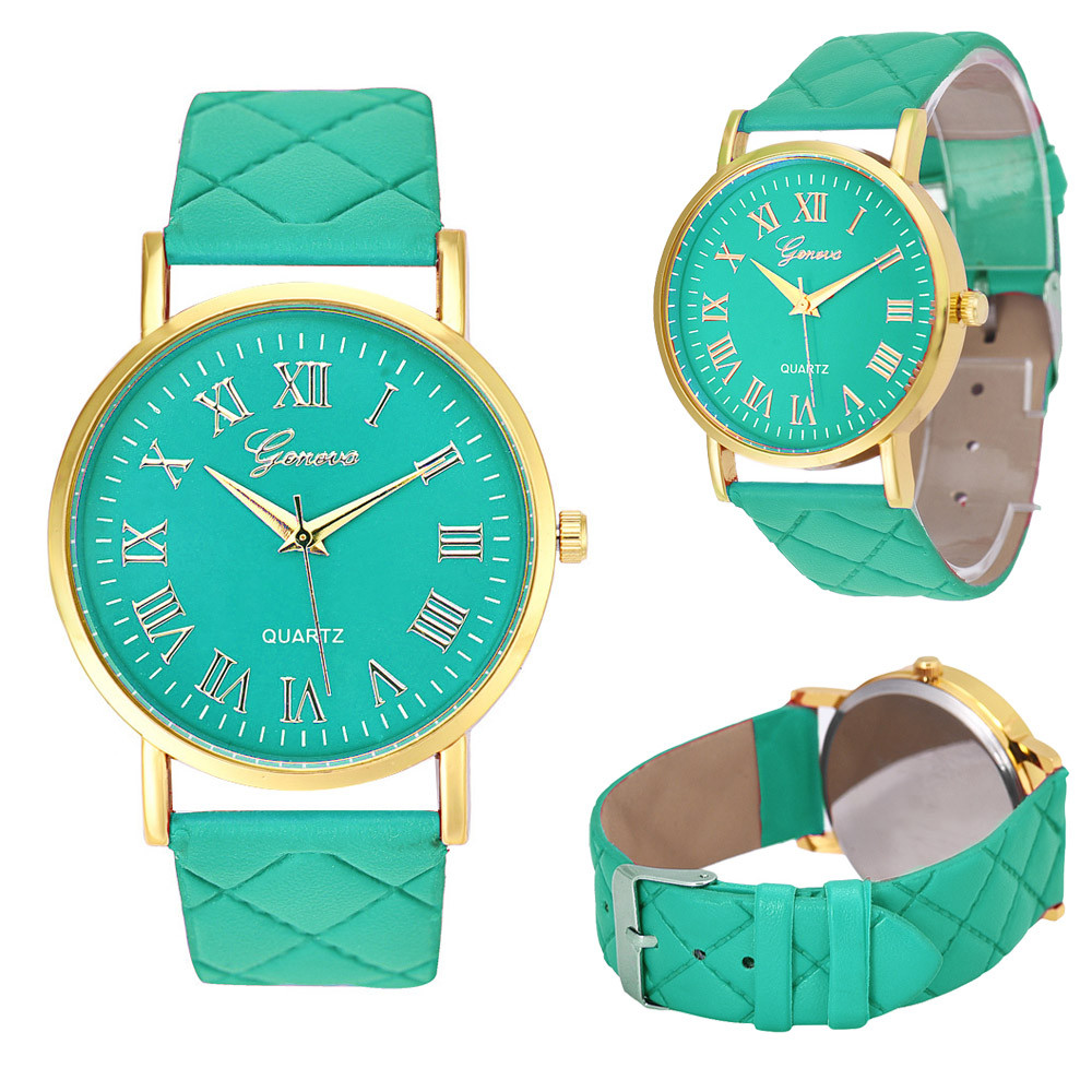 Fashion Hot Sale Unisex Leather Strap Luxury watches Casual Analog Quartz Watches Classic Simple Style Thin Wristwatch