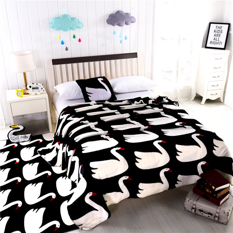 ФОТО Only 2016 high-end Swan tide brand double thick mink cashmere blanket multifunctional blanket sheets