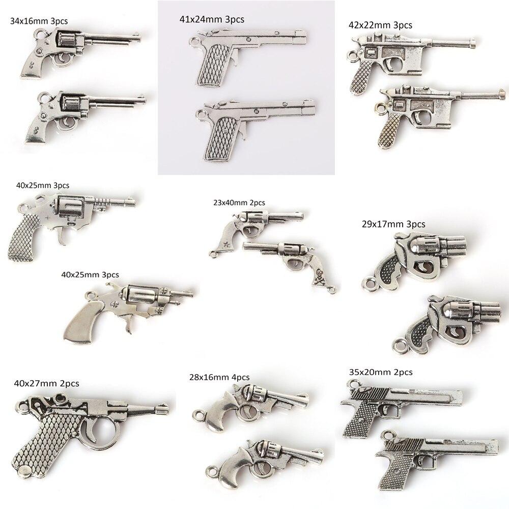 Einzelhandel Mode Vintage Silber Ton Gun Charms Metall Anhänger Für Diy Schmuck Erkenntnisse