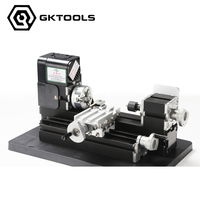 24W All Metal Mini Lathe, used 20,000r/min, 24W Motor ,mini lathe for students DIY Works, best gift for children's Gift.