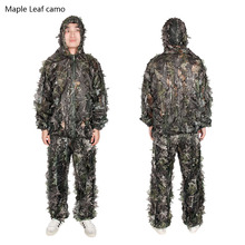 New Arrival Free Size Polyester Taffeta Fabric Leaves Camouflage Bird Watching Suit For Hunting Sports PP34-0074