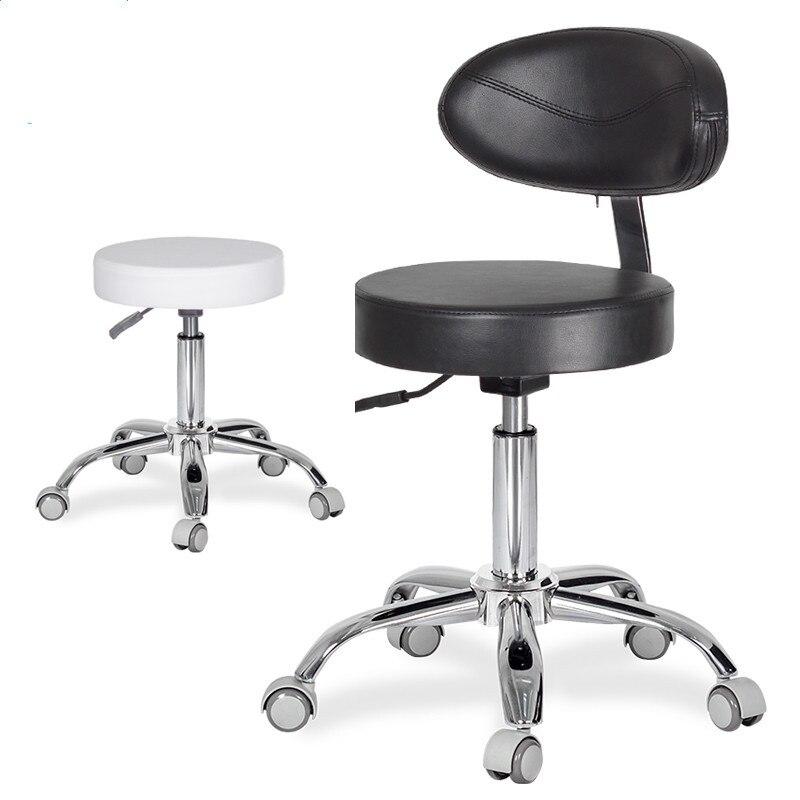 Tabourets mobiles d'infirmière de chaise de dentiste dentaire avec le cuir d'unité centrale de dossier et les roues médicales réglables en hauteur pour le Salon de bureau de Studio