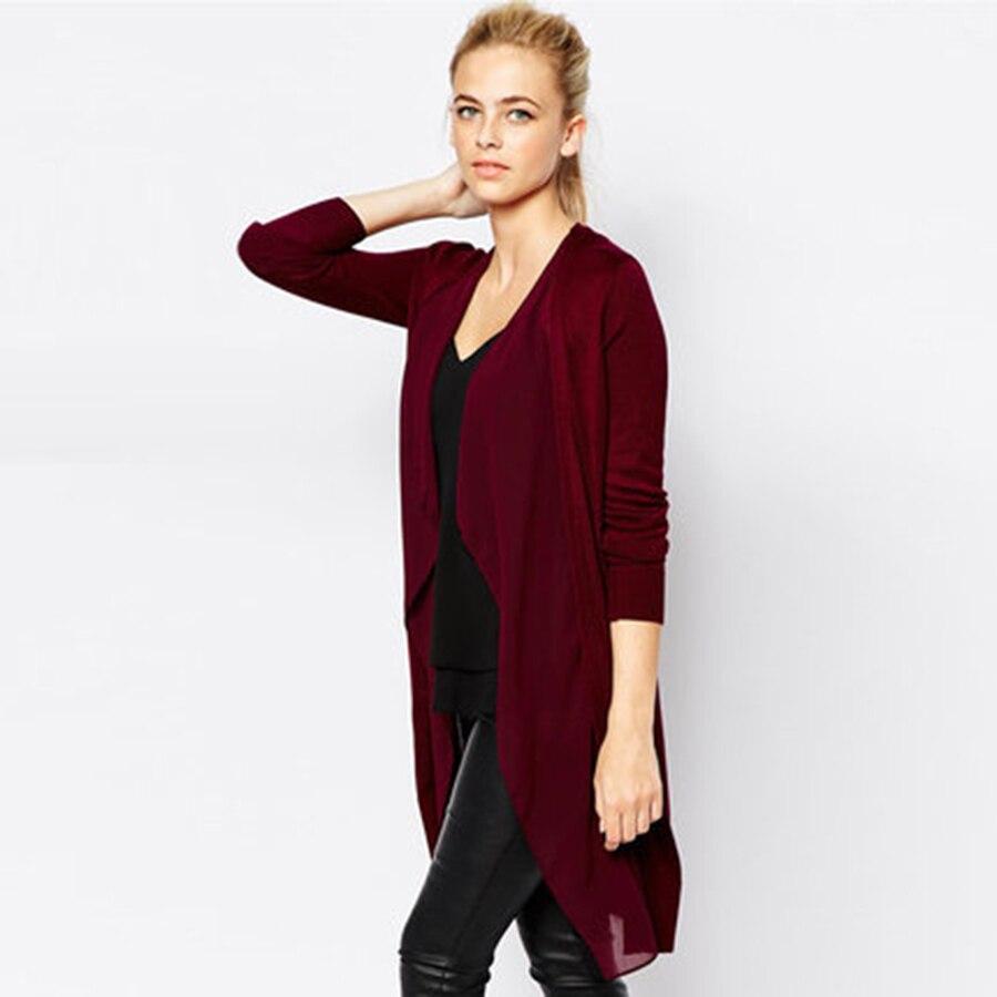 Chiffon Long Cardigan Women Sweater Summer Cotton Fall Coat Poncho ...