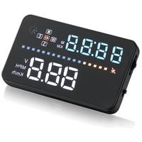 3.5 A3 HUD Car Head Up Display Vehicle Speeding Warning OBD2 Digital car speedometer GPS Speedometer Winshield Projector