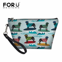 FORUDESIGNS Women Black Labrador Printing Cosmetic Cases Ladies Make Up Bags Wash Kit for Girls School Pencil Box Neceser