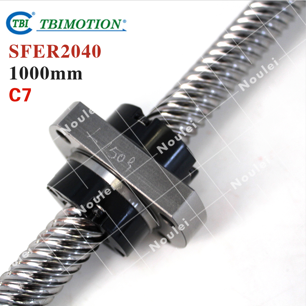 Taiwan TBI 2040 ballscrew 1000mm lead 40mm pitch with SFE2040 nut 4 rows steel ball High speed screw for CNC kit горелка tbi 17 dx25 4 м вентильная in 176 196 206lvp