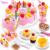 Corte bricolaje pastel de cumpleaños niños de los niños del bebé temprano educativo del juguete clásico juegos de imaginación alimento de la cocina de juguete de plástico con caja al por menor