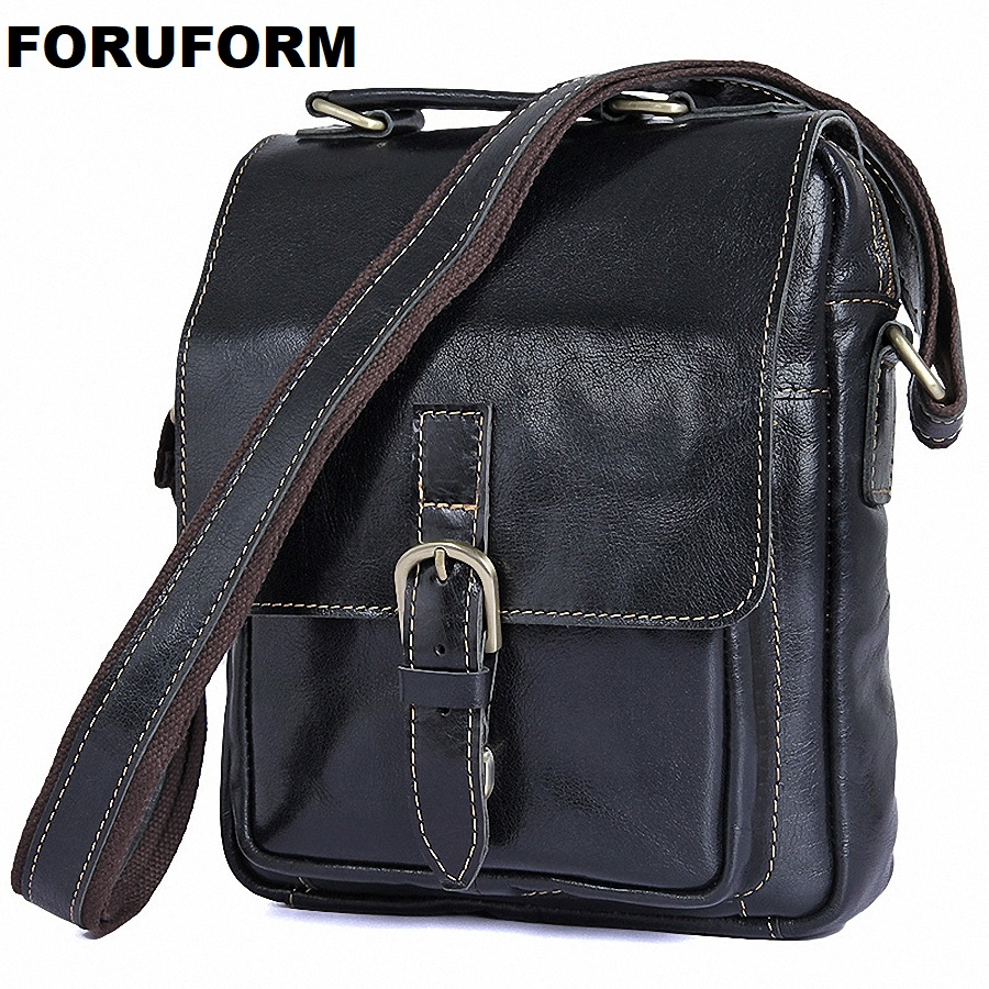 Genuine Leather Men Messenger Bag Casual Crossbody Bag Business Men's Handbag Bags For Gift Shoulder Bags Men LI-1924 casual canvas women men satchel shoulder bags high quality crossbody messenger bags men military travel bag business leisure bag