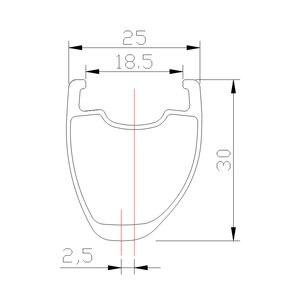 Image 3 - Disque de route asymétrique tubeless en carbone, 360g 30mm, roue tubeless, en forme de U large 700c, UD 3K, mat et brillant, 20H 24H 28H 32H 36H