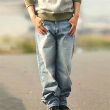 2015 Fashion Mens Hip Hop Baggy Pants Denim Skinny Jeans Trousers Skateboard Pants for Men Plus Size 30-46