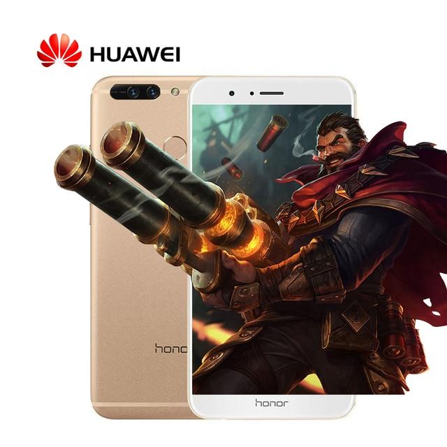 "Original Huawei Honor V9 4G LTE Mobile Phone 5.7"" 2560x1440 6GB RAM 64GB ROM Kirin960 Octa-Core Dual 12.0MP Camera"