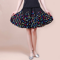 New Style Ladies Latin Dance Skirts Practice Cha Cha Rumab Samba Latin Dancing Skirt Duoble Colors