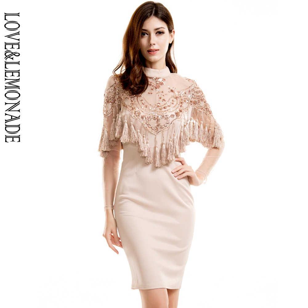 2696f1b1890 Love   лимонад Кружева блестками Ленточки вечерние платье телесного цвета  TB 9695