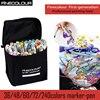 240 pcs/set colors Finecolour twin brush fine tip art fine line alcohol based ink dual copic markers sketch pack artist pen set