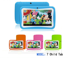 10pcs/Lot 7 inch Kids Tablet PC RK3126 Quad Core 8G ROM Android 5.1 With Children Educational PAD for Children DHL free shipping