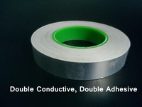 0 095mm Thick 95mm 50M Double Sides Glue Conductivity Aluminum Foil Electromagnetic Shielding Tape Fit For