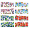 4 PACKS LOT FULL COVER ABTRACT FLOWER VINE GRASS TATTOOS STICKER WATER DECAL NAIL ART C260