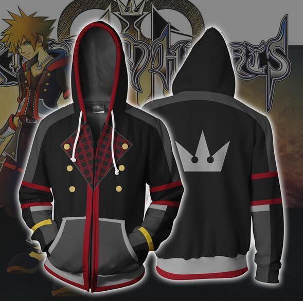 Kingdom Hearts Sora Hoodie Cosplay Game Sweatshirts Men Women