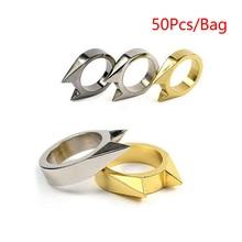 50pcs/bag Defense Finger Ring Self Defense Security Protection Mini Self-Defens Ring