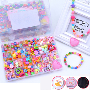 DIY Handmade Beaded Toy with Accessory Set Children Creative 24 Grid Girl Jewelry Making Toys Educational Toys Children Gift(China)