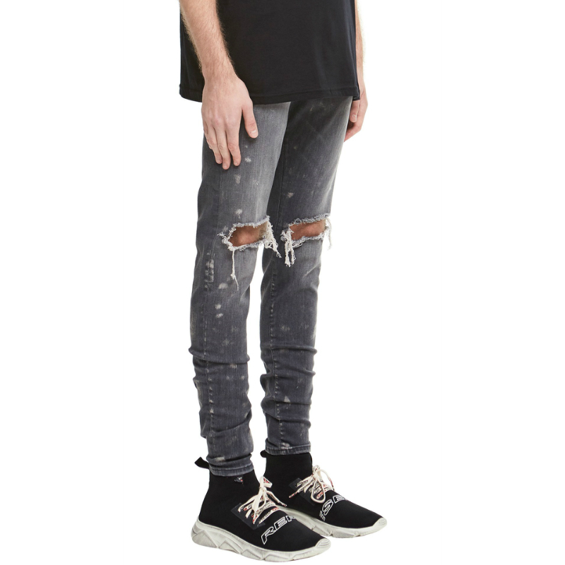 Paint Splatter Skinny Denim   Jeans