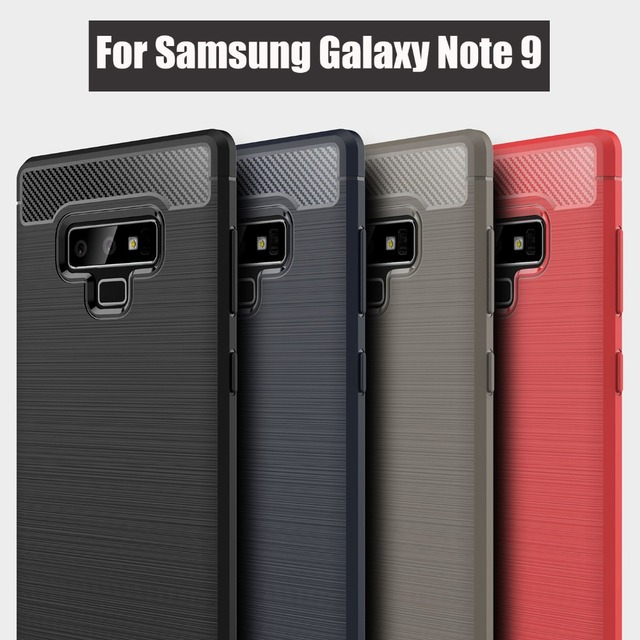 US $2 9 |for Samsung Galaxy Note 9 case 2018 best drawing brushed anti  shock soft carbon fiber silicone cover for samsung galaxy note9-in Fitted  Cases