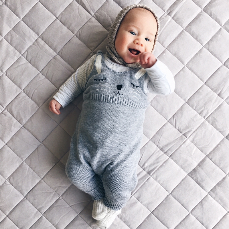 Baby Knitted jumpsuit Cotton Plaid Playsuit Autumn Spring Winter boys girls Tiny Cottons Overall Infant Onesie Romper