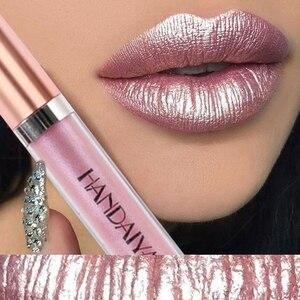 6 Color Shimmer Lip Gloss Glitter Liquid Lipstick Glossy Shiny Lip Long Lasting Waterproof Lipgloss Shine
